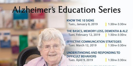 Planning the Day for the Person with Dementia; Alzheimer's Workshop, Nov. 12, 2019, Kadlec Healthplex tickets