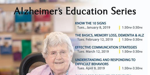 Planning the Day for the Person with Dementia; Alzheimer's Workshop, Nov. 12, 2019, Kadlec Healthplex