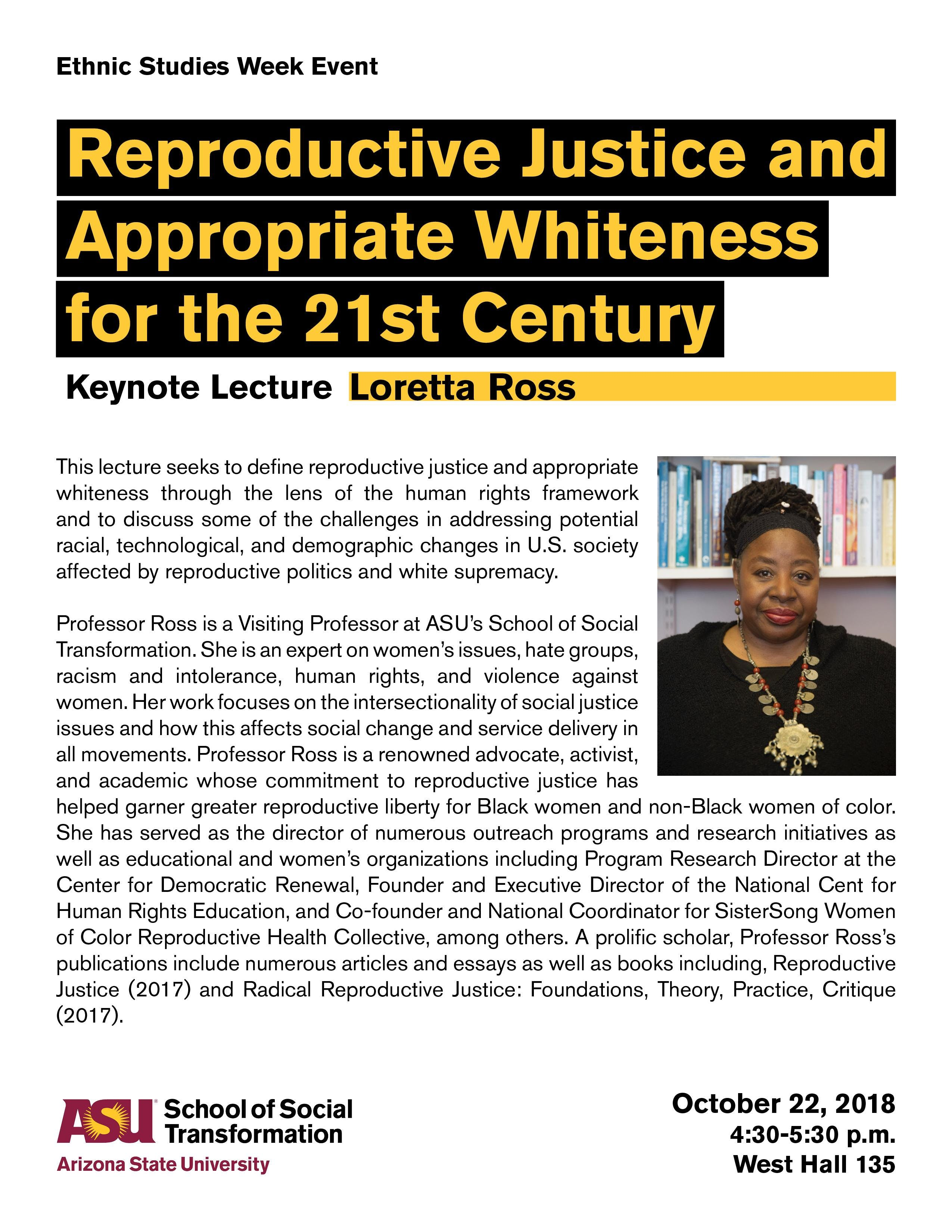 Ethnic Studies Week Event Keynote with Loretta Ross,