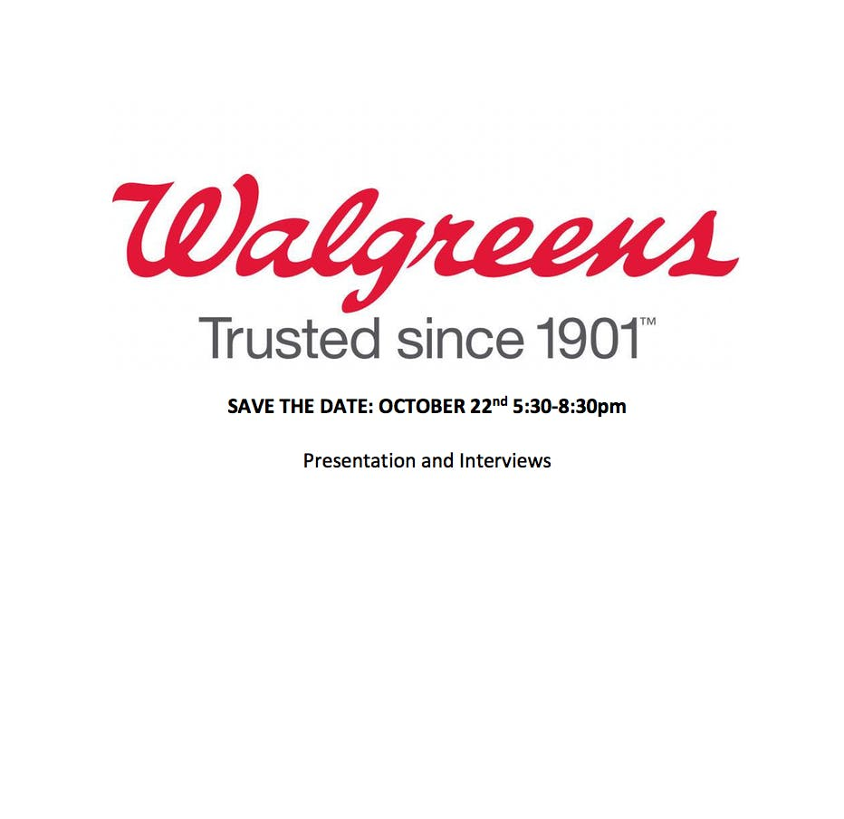 Walgreens Day - Career Presentation and Interviews - 22 OCT 2018