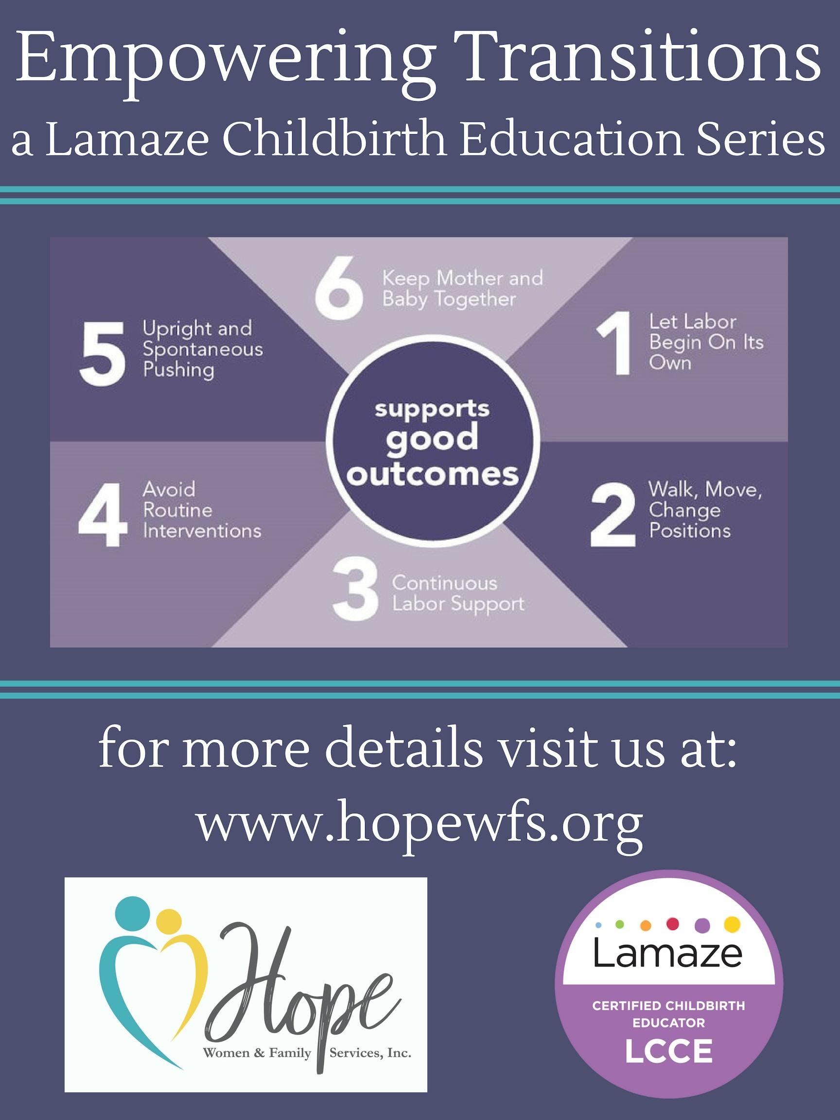 Empowering Transitions A Lamaze Childbirth Education Series 1 Nov