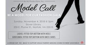 MODEL CALL - Fashion Gala