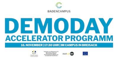 DEMODAY des BadenCampus Accelerator Programms