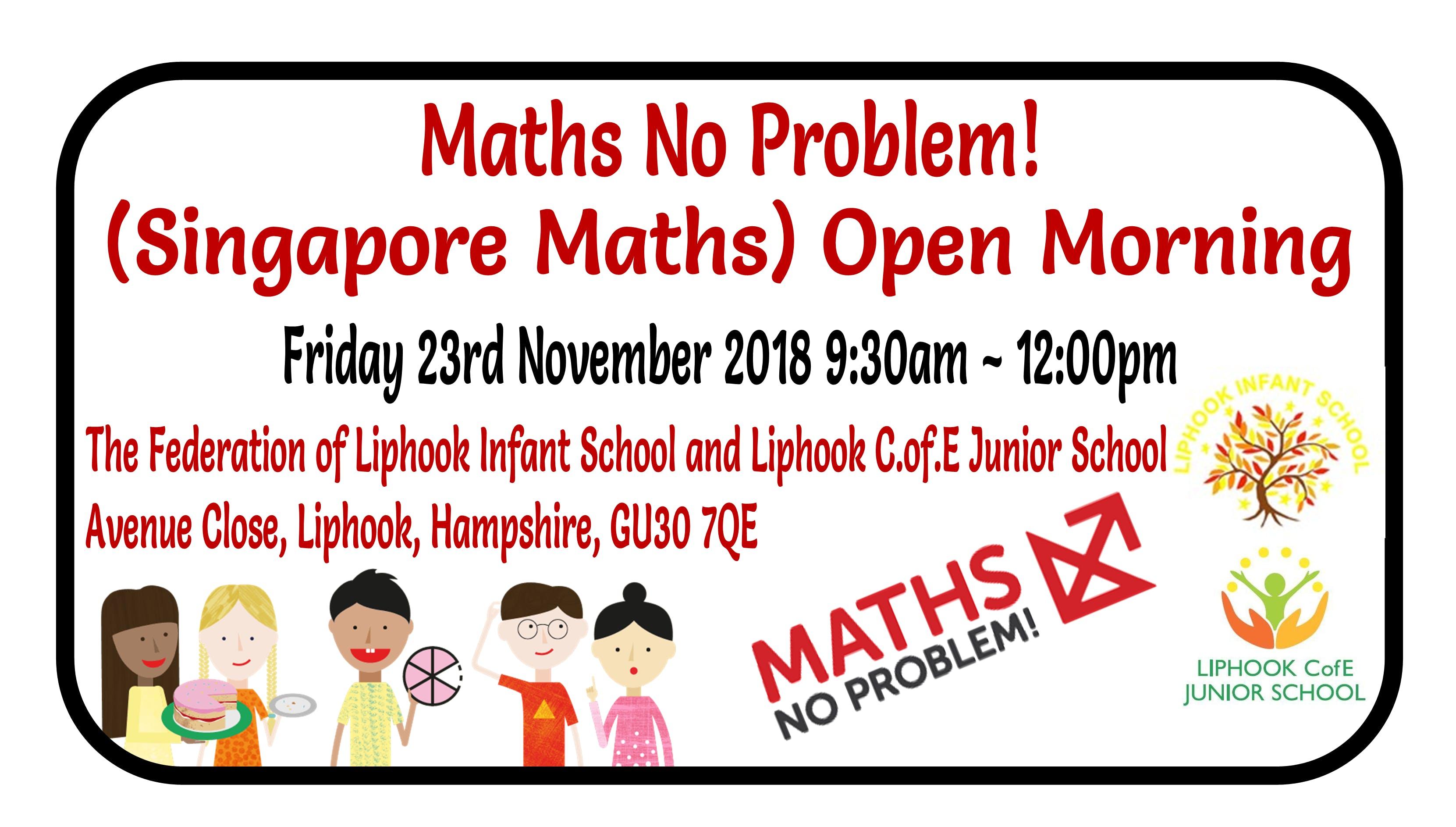 Maths No Problem! (Singapore Maths) Open Morn