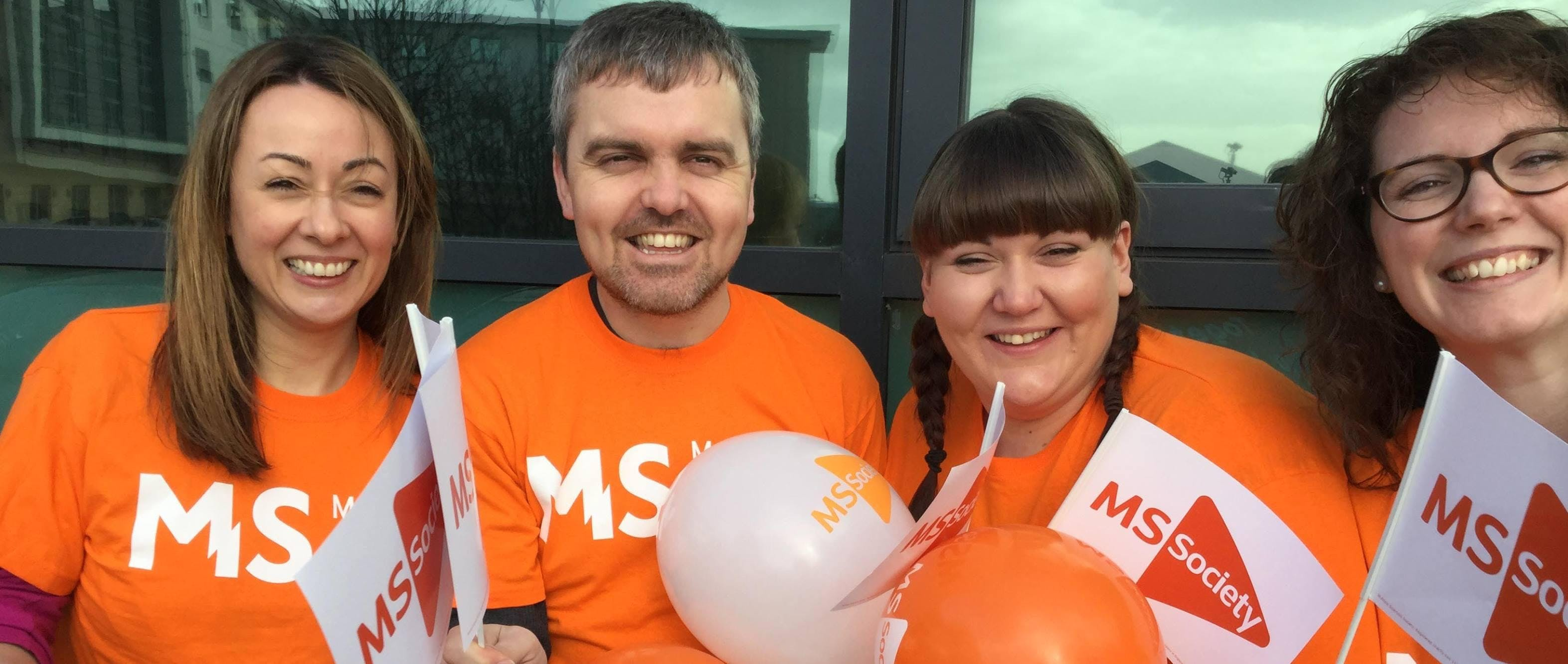 Fundraising in Greenock for MS Society Scotla