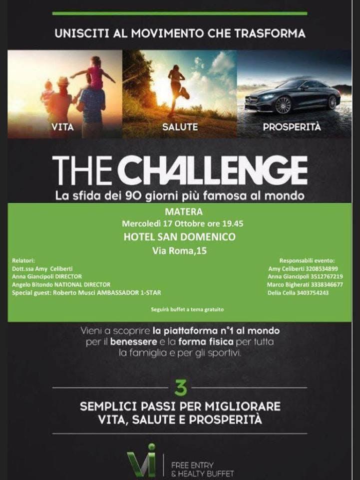 Copia di THE CHALLENGE MATERA - 17 OTTOBRE HOTEL SAN DOMENICO MATERA
