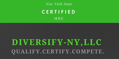 Qualify. Certify. Compete. New York State Certification Assistance Workshop tickets