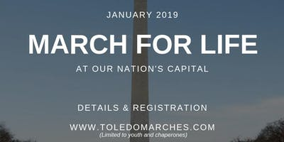 March for Life 2019 (Diocese of Toledo) - YOUTH Bus
