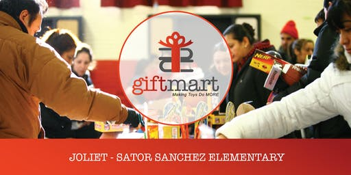 Giftmart at Sanchez Elementary, Joliet 2019 Sponsored by Community 4:12