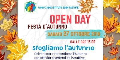 Sabato 27 ottobre, OPEN DAY Festa d'Autunno presso Buon Pastore