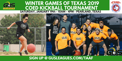 Winter Games of Texas 2019 - Coed Kickball Tournament