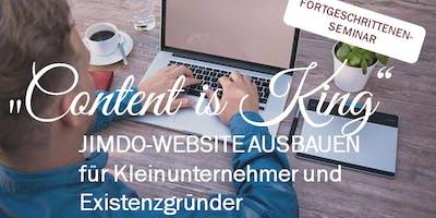 """Content is King"" - Tagesseminar Jimdo-Website verfeinern"