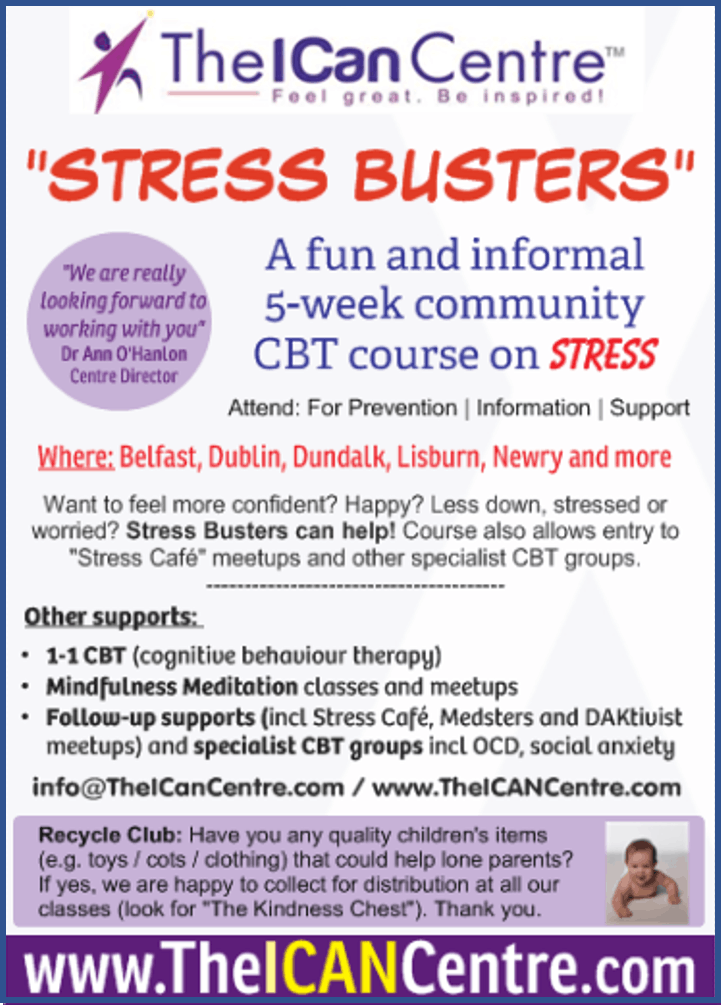 Belfast Stress Busters with Mindfulness Medit