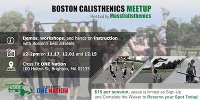 MassCalisthenics Indoor Meetup Series (11/17, 12/1, 12/15)