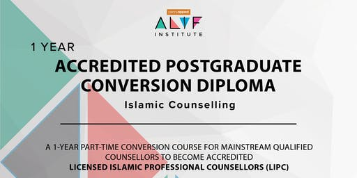 1 year Accredited Post Graduate Conversion Diploma in Islamic Counselling London