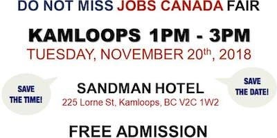 Free: Kamloops Job Fair – November 20th, 2018
