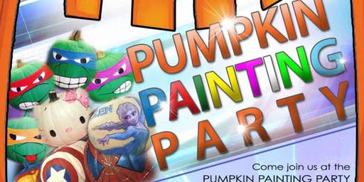 Pumpkin Painting Costume Party for the Kids