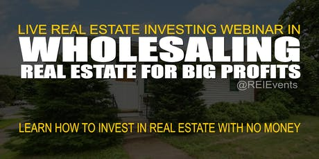 Wholesaling Real Estate in Minnesota - Webinar tickets