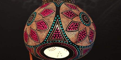 Gourd Light,Gourd Lantern,Gourd Pendant Class ! Gourd light for any decoration purpose.