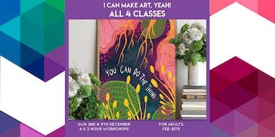 I can make art, yeah! 4 Class Pass - Adult Class