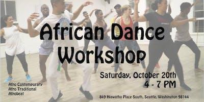 African Dance Workshop - Seattle - October Saturday 20 2018
