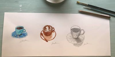 Draw what you see - coffee drawing