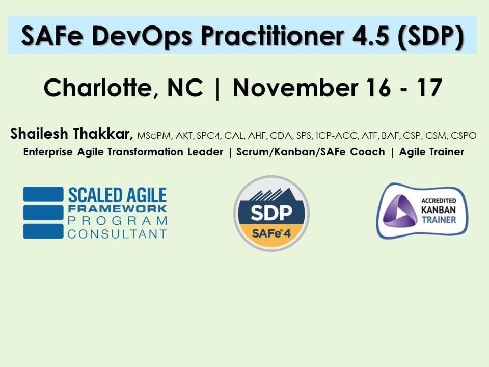 Safe Devops 45 With Sdp Certification 16 Nov 2018