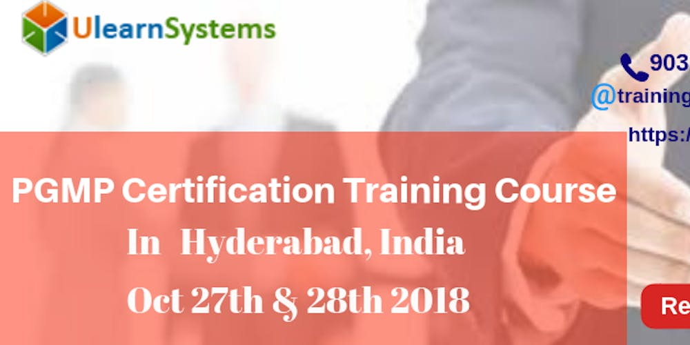 Pgmp Certification Training Course In Hyderabadindia Tickets Sat