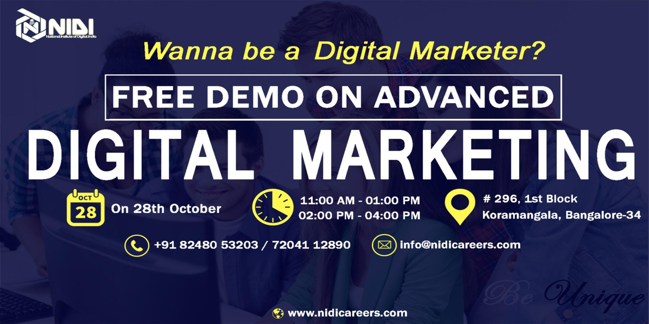 DemoWorkshop for Digital marketing