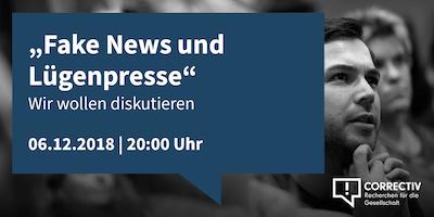 """""""Fake News und Lügenpresse"""" - Wir wollen diskutieren"""