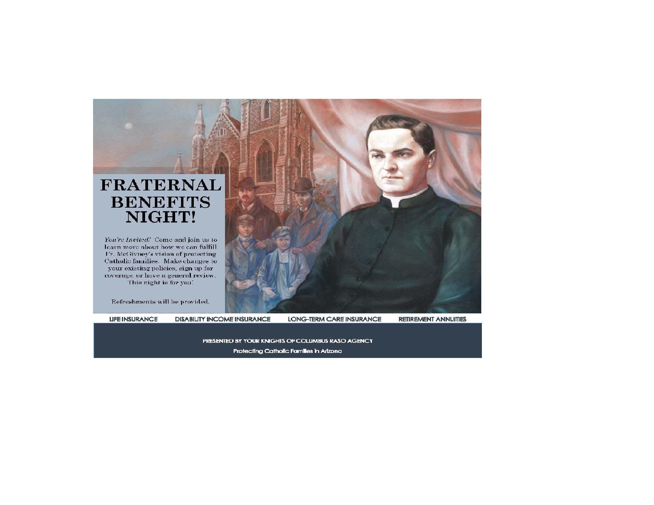 Fraternal Benefits Night