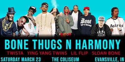 Bone Thugs-N-Harmony , Ying Yang, Twista & Lil Flip at Evansville Coliseum