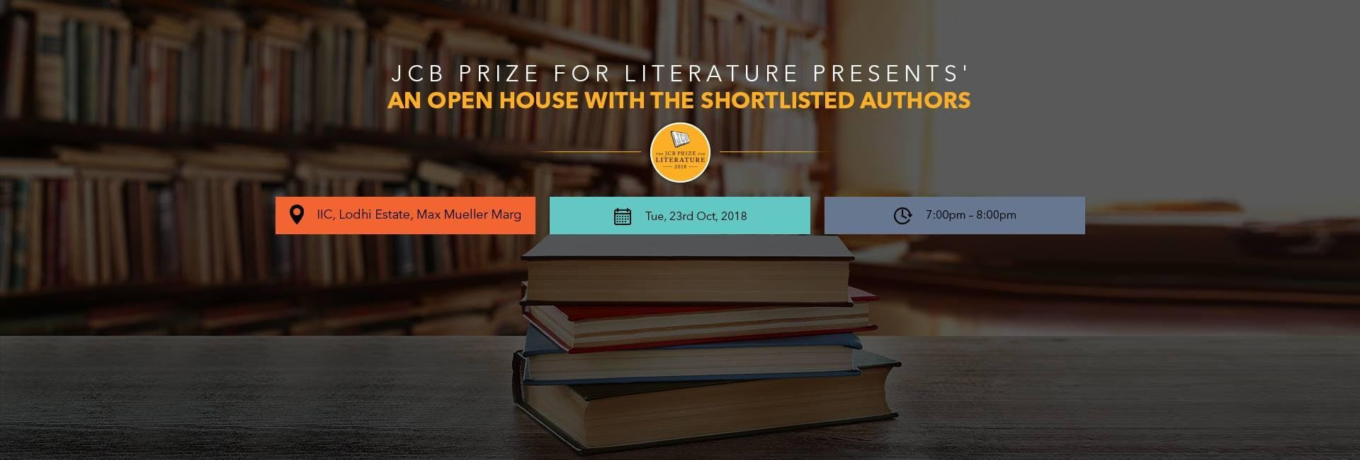 Open house with the JCB Prize for Literature