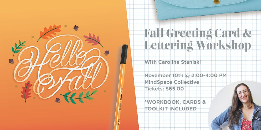 Fall greeting card lettering workshop tickets sat nov 10 2018 fall greeting card lettering workshop tickets sat nov 10 2018 at 200 pm eventbrite m4hsunfo