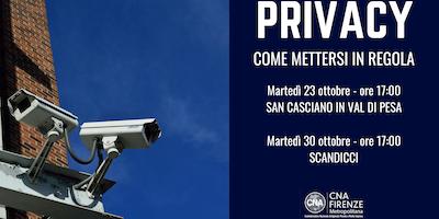 Privacy - Come mettersi in regola (San Casciano V.P.)