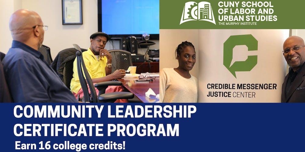 Community Leadership Certificate Program Registration Mon Nov 5