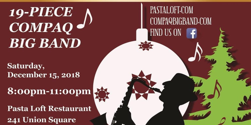 compaq big band christmas show tickets sat dec 15 2018 at 800 pm eventbrite - Big Band Christmas