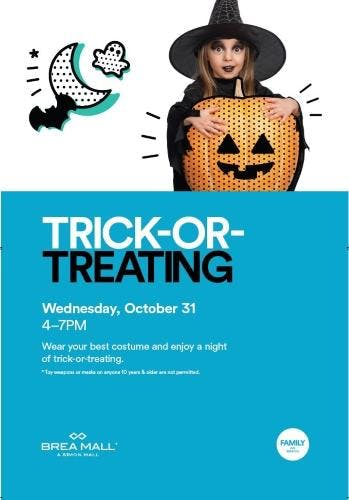 Trick Or Treating At Brea Mall 31 Oct 2018