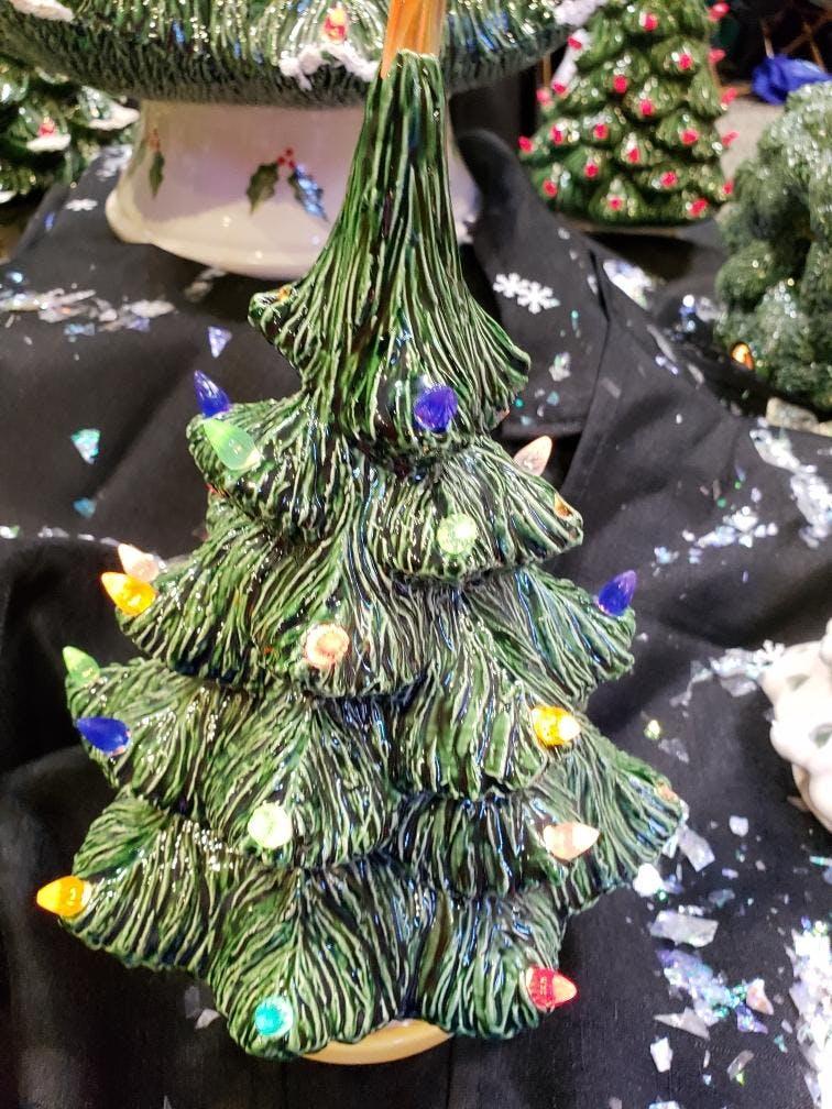 large vintage ceramic christmas tree - Large Ceramic Christmas Tree