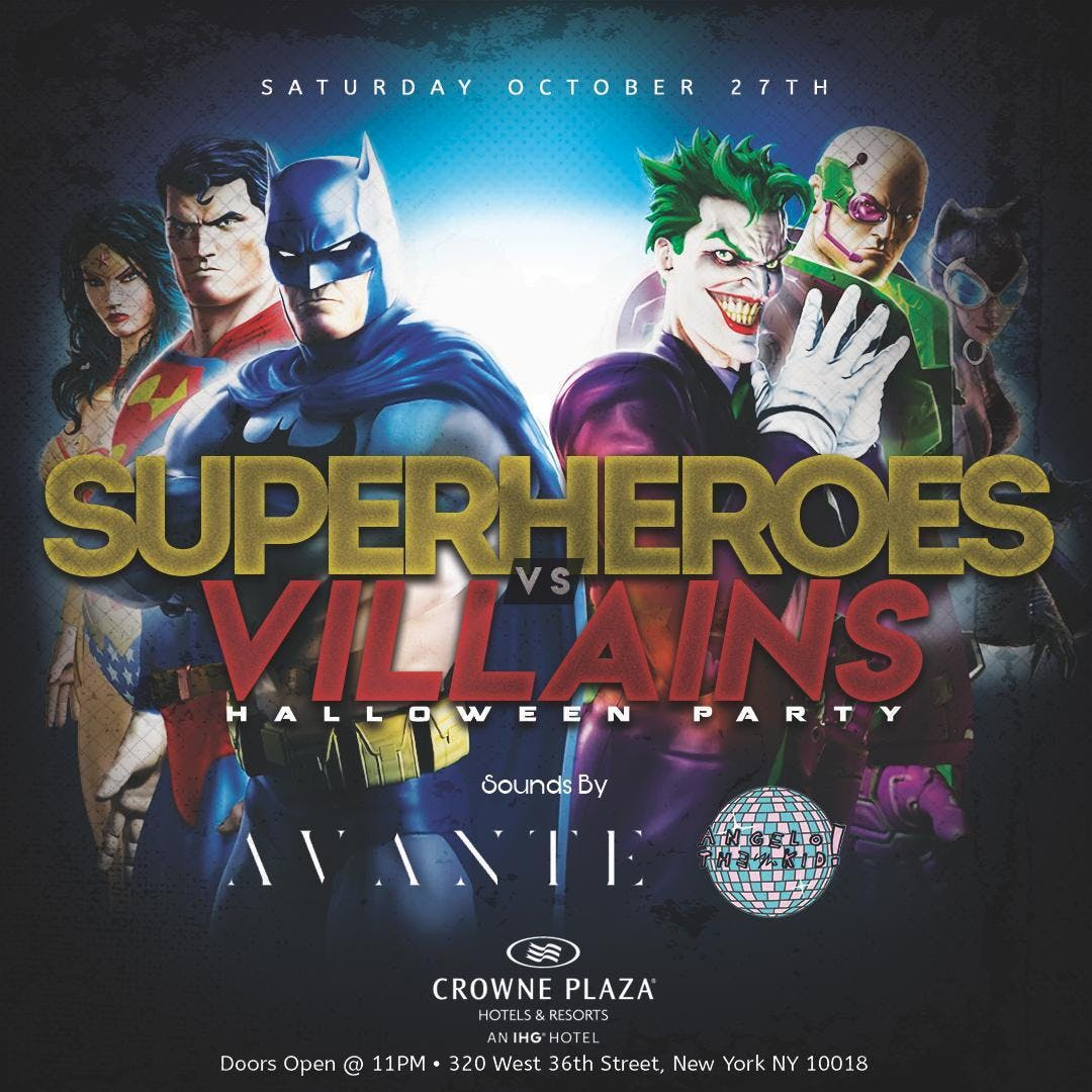 Heroes VS Villains Halloween Party at Crowne