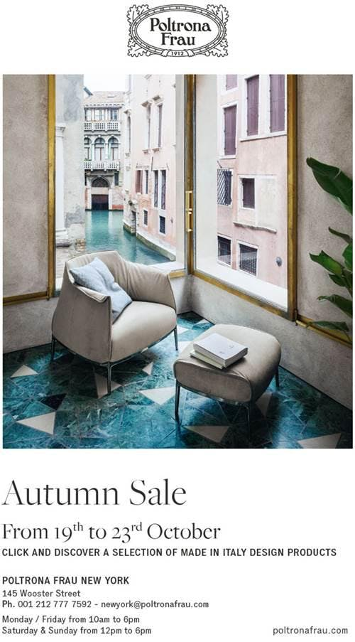 Poltrona Frau Design Bank.Poltrona Frau Autumn Sale 19 Oct 2018