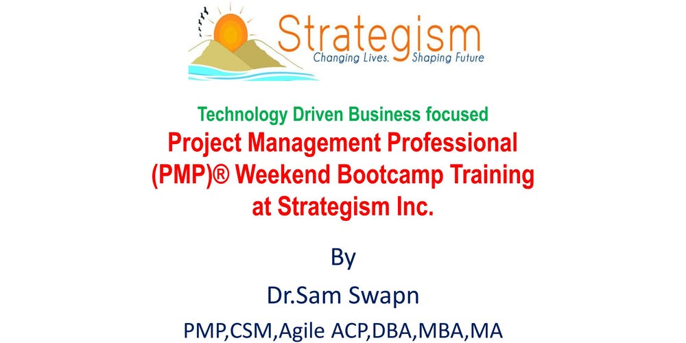 Pmp Weekend Bootcamp For Sacramento Nov 3410112018 Tickets Sat