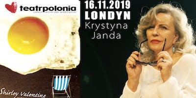 Krystyna Janda w Londynie jako Shirley Valentine, spektakl komediowy 16.11.2019
