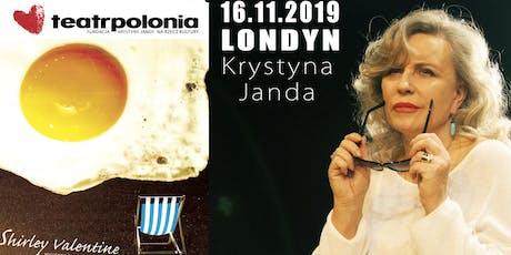 Krystyna Janda w Londynie jako Shirley Valentine, spektakl komediowy 16.11.2019 tickets
