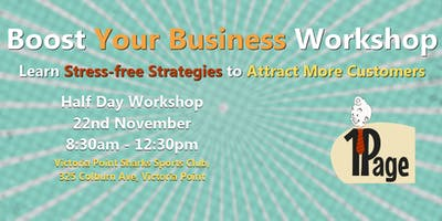 1Page Business Boost Workshop-Stress-Free Strategies To Grow Your Business