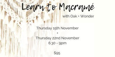 Learn to Macramé with Oak and Wonder