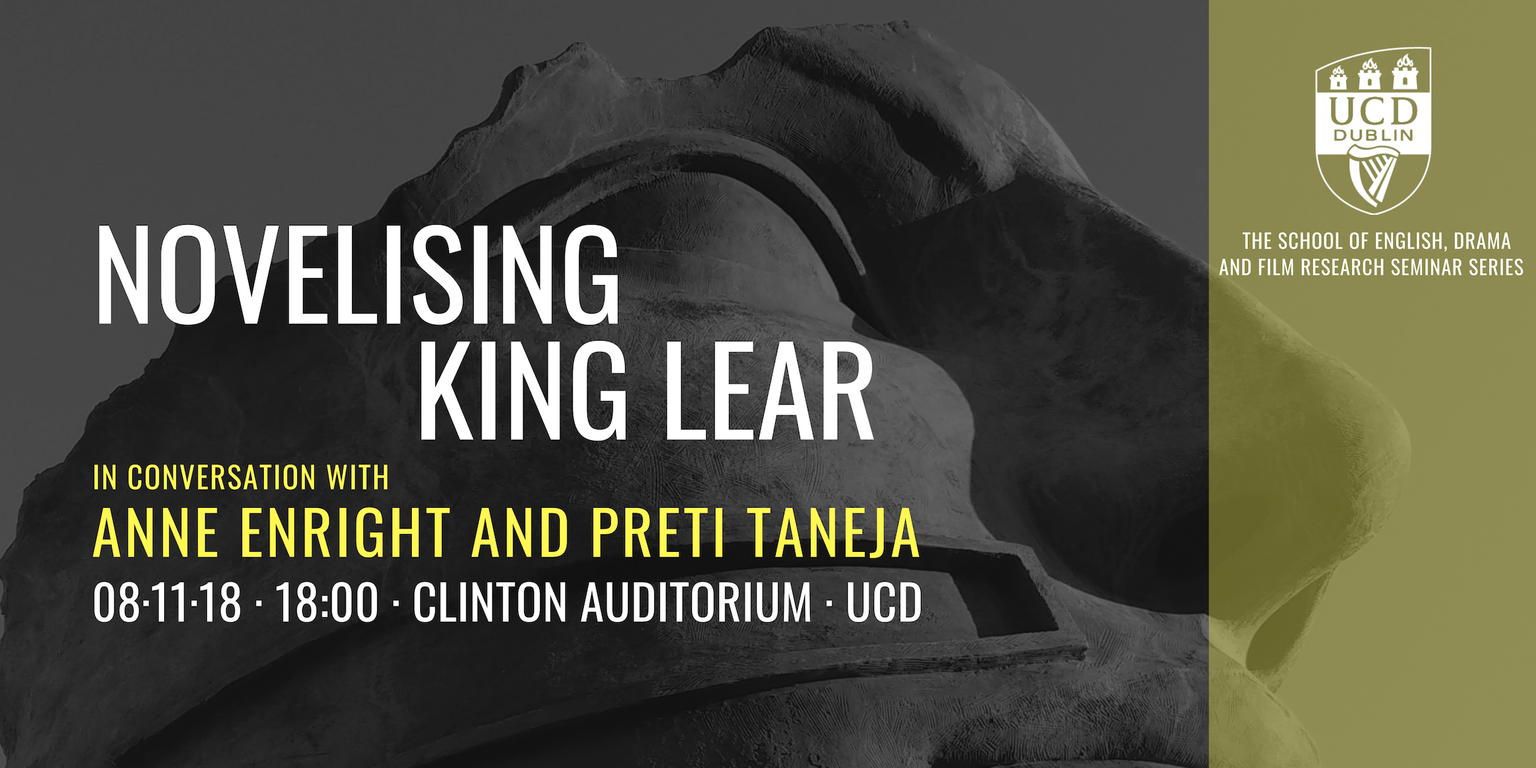 Novelising King Lear: In Conversation With Anne Enright and Preti Taneja