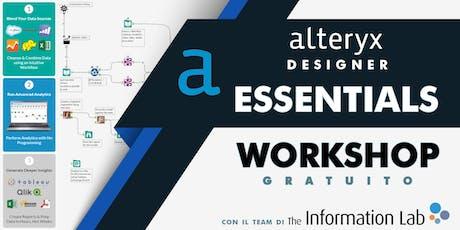 Alteryx Essentials biglietti