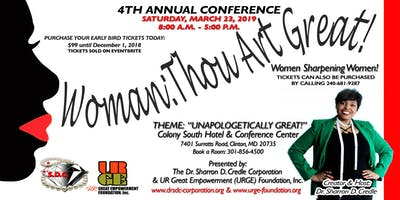 4th Annual Woman: Thou Art Great - Women Sharpening Women Conference