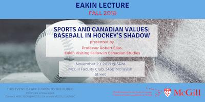 Fall 2018 Eakin Lecture